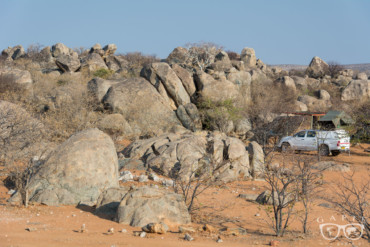 Prysznic z widokiem na gwiazdy, czyli campingi w Namibii